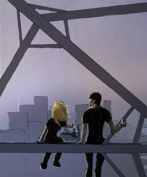 Tris and Four on the Ferris wheel, drawn by tumblr user mynameisfour (source)